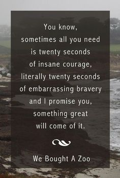 Sometimes all you need is 20 seconds of insane courage ... #life #motivation #inspiration http://fb.me/2tFKH3zXZ