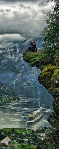Geiranger, Norway  where one could find a truly magical place to hang out
