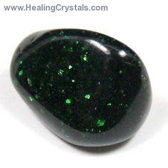 Tumbled Green Goldstone - Tumbled Stones- Blue Goldstone - Healing Crystals
