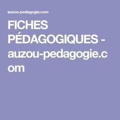FICHES PÉDAGOGIQUES - auzou-pedagogie.com