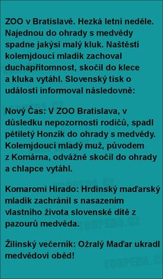 ZOO v Bratislavě.... Really Funny Joke, Bad Humor, Texts, Cool Pictures, Funny Jokes, Lol, Books, Malta, Libros