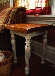reclaimed barn wood end table custom made by creeksideacresinc