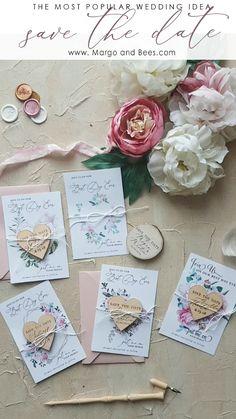 Ideas wedding card flower save the date for 2019 Diy Wedding, Wedding Favors, Rustic Wedding, Wedding Gifts, Dream Wedding, Wedding Decorations, Vintage Wedding Cards, Wedding Souvenir, Wedding Flowers