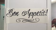Bon Appetit Wall decal - wall quote - home vinyl wall decal - $25
