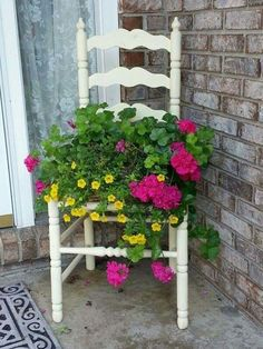 Old chair planter - My garden - Garden Chair