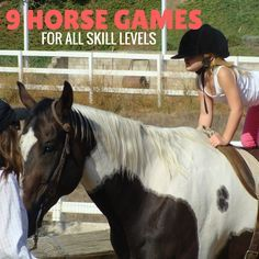 9 easy to set up and play horse games for kids and adults! These are perfect for summer horse camp