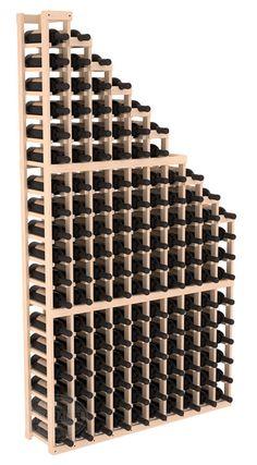 Handmade Wooden Standard Waterfall Display Wine Shelf Rack Display in Ponderosa Pine. 13 Stain Combinations to Choose From! Wine Rack Design, Wine Cellar Design, Wine Shelves, Wine Storage, Crate Shelves, Tv Storage, Room Shelves, Record Storage, Glass Shelves