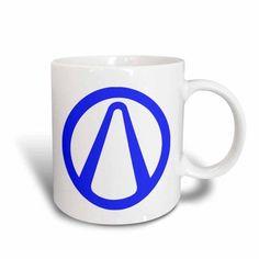 3dRose Borderlands. Blue., Ceramic Mug, 15-ounce