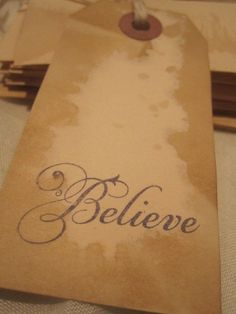 Distressed Gift Tags  Vintage Inspired  Believe No by TeatroRosso, $4.99