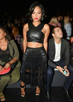 Stars attending New York Fashion Week Spring/Summer 2016 Celebrity Fashion Looks, Celebrity Style, Fine Black Girls, Girl Fashion Style, Christina Milian, Dressed To The Nines, Sexy Skirt, New York Fashion, Chic Outfits