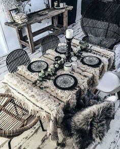 Bohemian # # style # Berber table home decoration handira inlove boheme # Bohemian Interior, Bohemian Decor, White Bohemian, Bohemian Fashion, Bohemian Style, Art Marocain, Deco Boheme, Interior Decorating, Interior Design