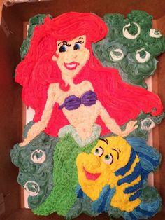 Ariel & Flounder Cupcake Cake