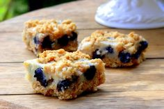 Blueberry Lemon Oatmeal Bars. Great for brunch parties. Or for a picnic or camping snack. Wonderful on a holiday party table spread. Ideas are endless. I