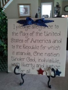 SUPER SATURDAY CRAFT KITS: Pledge of Allegiance.  To order: orders@windmilllettering.com