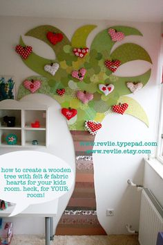 when Sanne was little i created this tree in her room. a fun & free diy step-by-step photo tutorial on how to create this cute tree is on my blog! www.revlie.nl