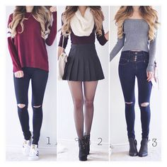 Cute highschool outfits, back to school outfits, everyday outfits, teen fas Cute Highschool Outfits, Teenage Outfits, Cute Outfits For School, Teen Fashion Outfits, Mode Outfits, Cute Fashion, Look Fashion, Outfits For Teens, Trendy Outfits