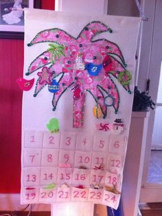 Lilly Pulitzer-inspired Advent Calendar. This would be a fun DIY (:    #lillyholiday