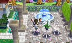 Zell's House: patio fountain. (Zell is my favorite of all the characters) 0596-5755-822 #hhd