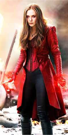 The Scarlet Witch played by Elizabeth Olsen. The Avengers: Age of Ultron - Visit to grab an amazing super hero shirt now on sale! Marvel Women, Marvel Girls, Marvel Heroes, Marvel Characters, Marvel Movies, Marvel Dc, Captain Marvel, Scarlet Witch Costume, Scarlet Witch Marvel