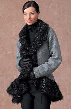 Free Knitting Pattern:  Sweater Coat
