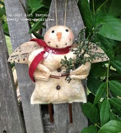 Wishin For Snow Primitive Snowman Ornie Epattern Instant Download