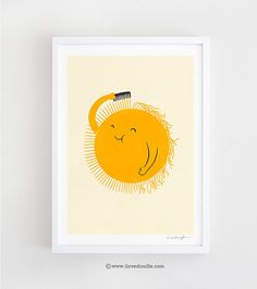 Bad Hair Day  Art Print di ilovedoodle