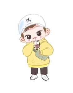 Chen <credits to owner> Exo Cartoon, Cartoon Fan, Cartoon Pics, Exo Chen, Exo Xiumin, Kaisoo, Exo Stickers, Exo Anime, Exo Fan Art