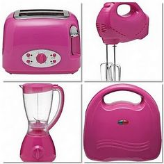 pink kitchen accessoriessomeone told me these didn't exist, but