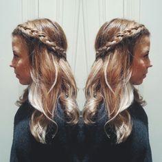 #balayage #highlights #blonde #ombre #braids #boho #bohemian #hairdo #hair #curls / Hair by Susanna Poméll / www.healthyhair.fi