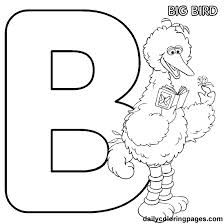 printable alphabet coloring pages big bird