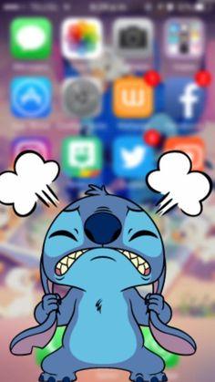 Emo Wallpaper, Disney Phone Wallpaper, Cartoon Wallpaper Iphone, Cute Wallpaper For Phone, Cute Cartoon Wallpapers, Dont Touch My Phone Wallpapers, Cute Stitch, Lilo And Stitch, Stitch Drawing