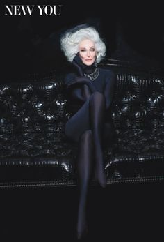 Carmen Dell'Orefice: 82 yr. old model STILL given it to us...BOOM!!  Definitely one of my inspirations for STILL doing it well at 82. Wonderful!!