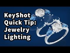 KeyShot Quick Tip: Lighting Jewelry Zbrush, Concept, Engagement Rings, Crystals, Lighting, Youtube, Jewelry, Tutorials, Life