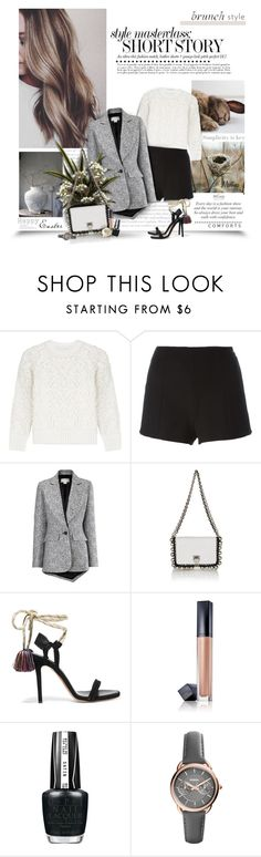 """""""Sass And Class"""" by thewondersoffashion ❤ liked on Polyvore featuring Victoria, Victoria Beckham, RED Valentino, Antonio Berardi, Proenza Schouler, Isabel Marant, Estée Lauder, OPI, FOSSIL, isabelmarant and proenzaschouler"""
