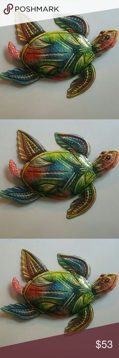 Metal Art Home decor  COLORED TURTLE 12×8 inches TURTLE Handmade indoor decorative Other