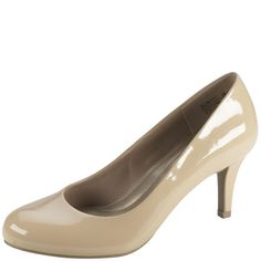 """This pretty pump provides lasting comfort and timeless style! It features a sturdy upper with trendy round toe, soft jersey lining, a cushiony memory foam insole that cradles the foot for all-day support, and a flexible outsole with 3"""" wrapped heel. Manmade materials."""