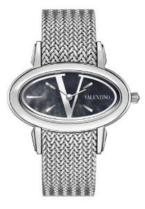 Valentino Women`s Signature Stainless Steel Blue Dial Watch Valentino Watches, Cute Watches, Wrist Watches, Women's Watches, Jewelry Watches, Women's Dress Watches, Valentino Women, Oval Diamond, Stainless Steel Watch