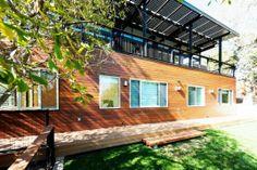 Wood House Exterior Decor
