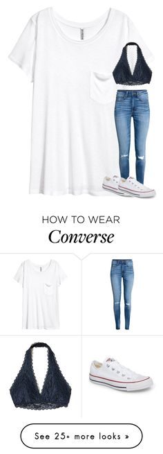 """Untitled #5359"" by laurenatria11 on Polyvore featuring H&M, Hollister Co. and Converse"
