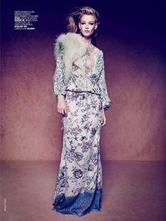 Holly May Saker by Marcin Tyszka for Marie Claire Italia February 2015 etro