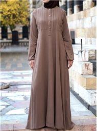 Cotton Abaya with Tucks