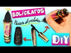 BOLIGRAFOS con MÁSCARA de pestañas * Boligrafos Decorados VUELTA A CLASES - YouTube
