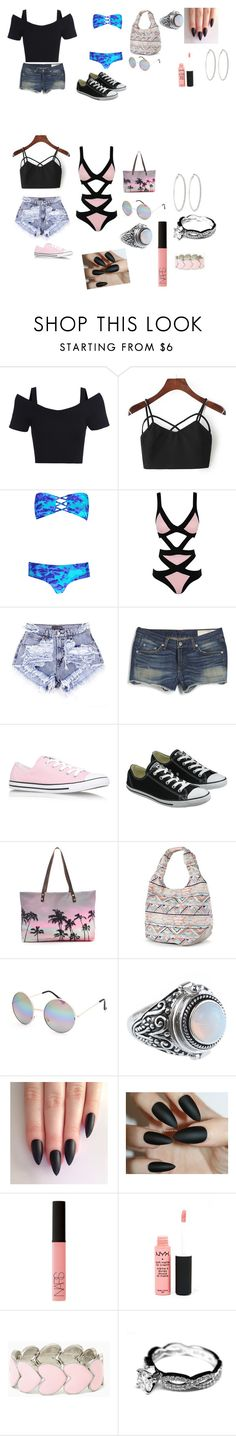 """""""Hanging out with friends at the beach"""" by trust-kashmir ❤ liked on Polyvore featuring Boohoo, Agent Provocateur, rag & bone, Converse, Samudra, Candie's, Full Tilt, NARS Cosmetics, NYX and Roberta Chiarella"""