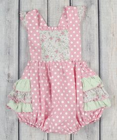 Another great find on #zulily! Pink & Gray Paisley Georgie Bubble Romper - Infant & Toddler by Stellybelly #zulilyfinds