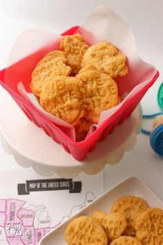 Great recipe for kids! Homemade cheese crackers from The Real Thing with the Coake Family using cookie stamps from We Made It by Jennifer Garner found at Joann.com