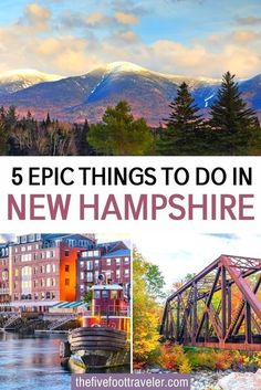 5 Epic Things to do in New Hampshire. The Northeast's adventure capital, New Hampshire, has so many incredible outdoor options. Here are five things you definitely shouldn't miss. #NewHampshire #USA #travel