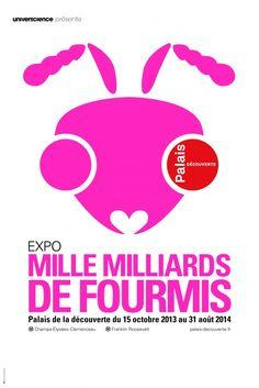 Affiche de l'exposition Fourmis rose © broca & wernicke