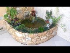 Fish Pond Gardens, Small Gardens, Outdoor Gardens, Small Fish Pond, Small Ponds, Diy Fountain, Fountain Design, Backyard Pool Designs, Ponds Backyard