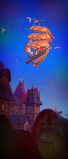 The beautiful drawings and animation of Treasure Planet