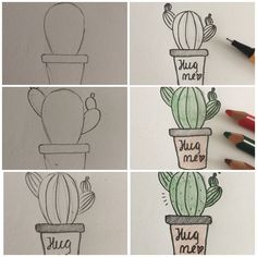Easy way to draw a cactus